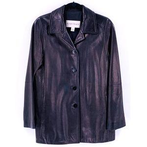 Ellen Tracy Jackets & Coats - ELLEN TRACY Black Leather Blazer Small Jacket